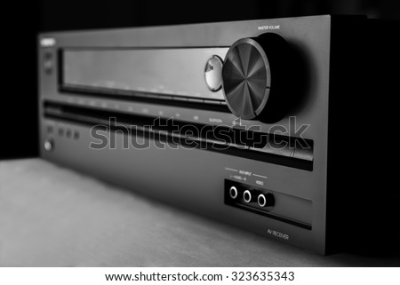 Home-theater amplifier - stock photo