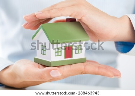 Home, trust, protective. - stock photo