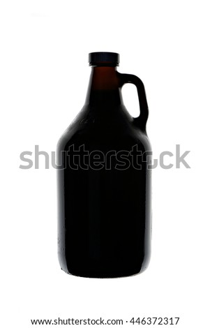Homebrew Beer in Growler - stock photo