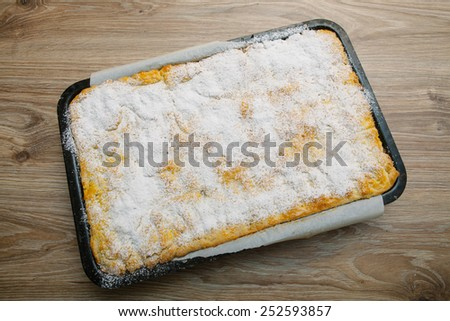 Homemade Apple Pie - fresh from oven - stock photo