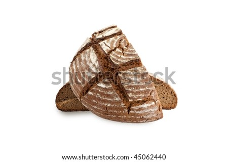Homemade artisan bread - stock photo