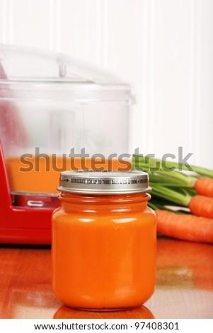 homemade baby carrot food - stock photo