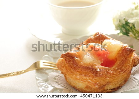 homemade bakery, grapefruit and cheese in Danish Pastry - stock photo