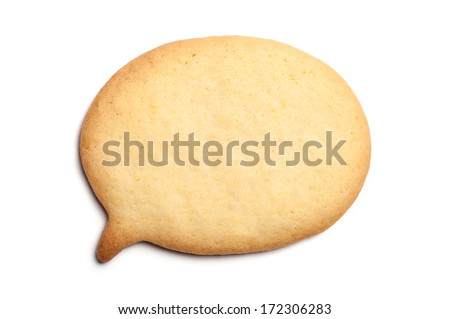 Homemade Biscuit isolated on white background. Balloon shape.  - stock photo