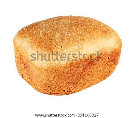 Homemade bread isolated on white - stock photo