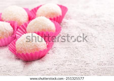 homemade cake pops - stock photo
