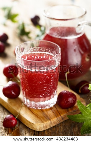 Homemade cherry horchata - stock photo
