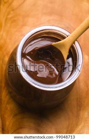 Homemade chocolate - stock photo