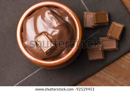 Homemade Chocolate Pudding - stock photo