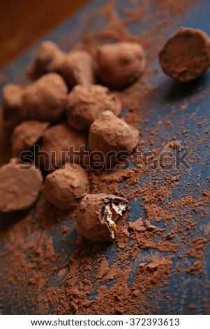 Homemade Chocolate Truffles - stock photo