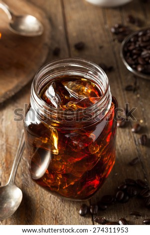 Homemade Cold Brew Coffee to Drink for Breakfast - stock photo