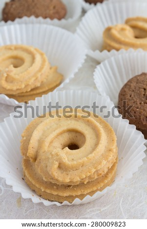 homemade cookie ready to eat - stock photo