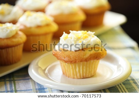 Homemade Delicious Lemon Muffin - stock photo