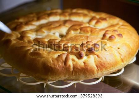 Homemade delicious pies. Selective focus - stock photo
