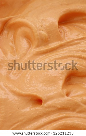 homemade delicious pumpkin Ice Cream recipe for the holidays - stock photo