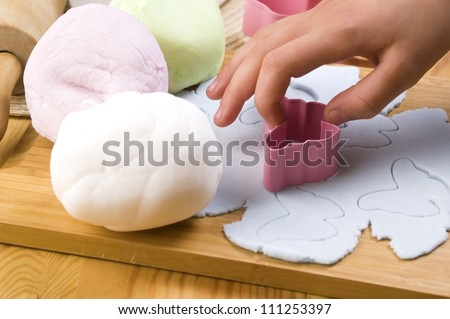 Homemade frosting decoration - stock photo