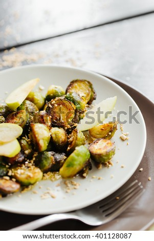 Homemade Grilled Brussel Sprouts  - stock photo
