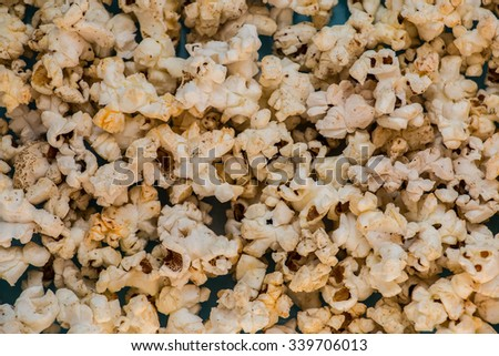 Homemade Kettle Corn Popcorn - stock photo