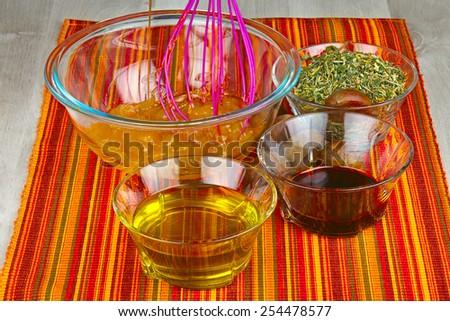 Homemade natural and organic products ,homeopathy.  Medicinal herbs - stock photo