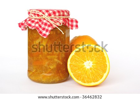 Homemade orange marmalade - stock photo