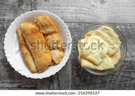 Homemade panzerotti with cheese - stock photo