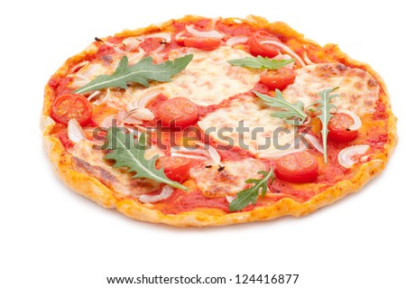 Homemade Pizza - stock photo