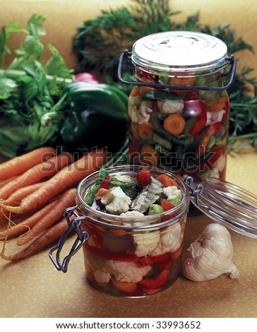 Homemade preserves - stock photo
