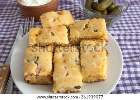 Homemade Quiche Pie - stock photo