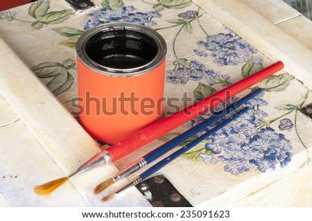 homemade renovation - stock photo