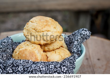 homemade scone in tea time - stock photo