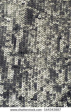 homemade texture of the metal beads - stock photo