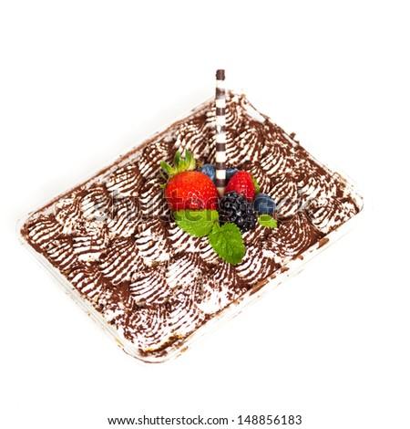 Homemade Tiramisu Cake - stock photo