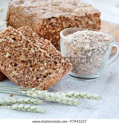 homemade traditional bread - stock photo