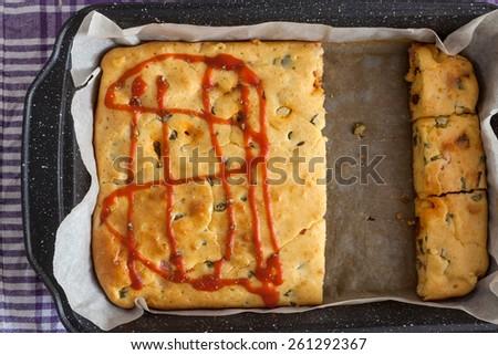 Homemade Vegetables Pie - stock photo