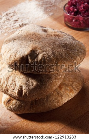 Homemade whole grain bread - stock photo