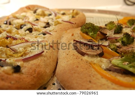 Homemade Whole Wheat Pizza - stock photo