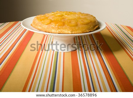 homemade yellow plum pie - stock photo
