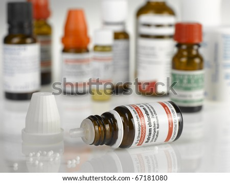 Homeopathic Bottle - stock photo