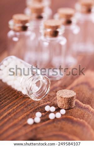 homeopathic medicines - stock photo