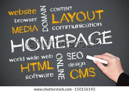 Homepage - stock photo