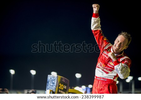 Homestead, FL - Nov 16, 2014:  Kevin Harvick (4) wins the NASCAR Sprint Cup Series Championship at Homestead-Miami Speedway in Homestead, FL.  - stock photo