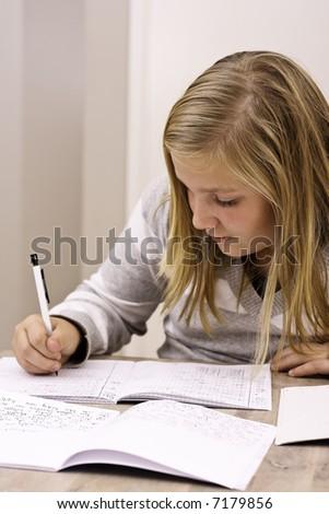 Homework - stock photo