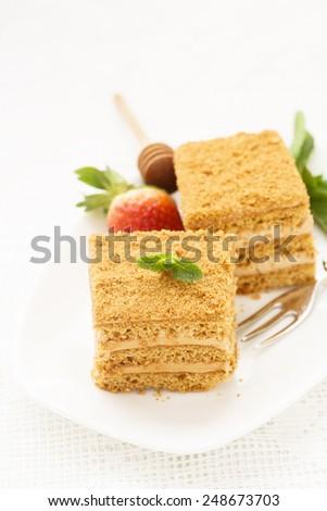 Honey cake - stock photo