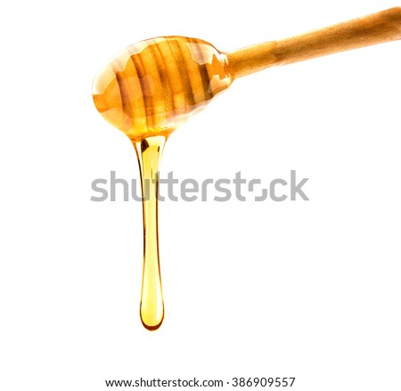 Honey. Dripped honey. Sweet honey - stock photo