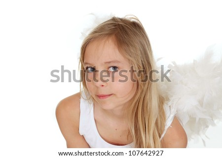 Honey girl showed herself in the photos in all her glory - stock photo