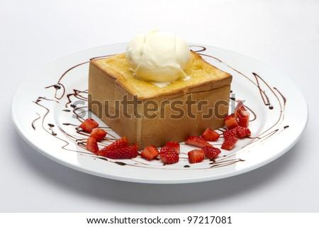 Honey Toast  Ice Cream - stock photo