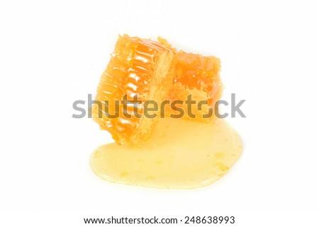 Honeycomb Close up - stock photo