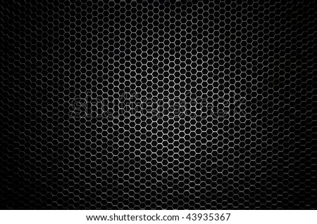 Honeycomb concept - central lightning - stock photo