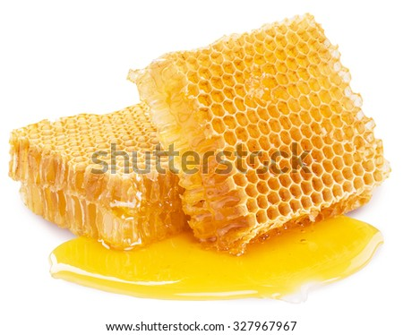 Honeycomb. High-quality picture contains clipping paths. - stock photo