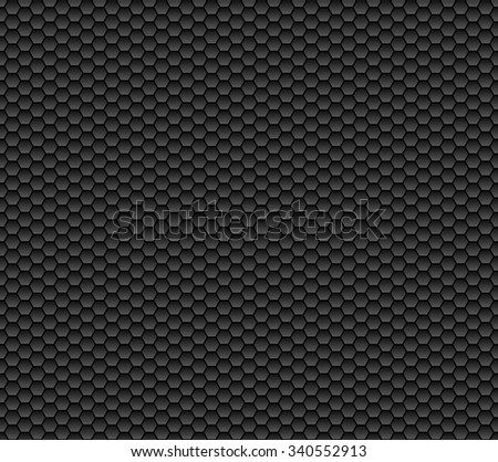 Honeycomb structure background with colours grey and black - stock photo